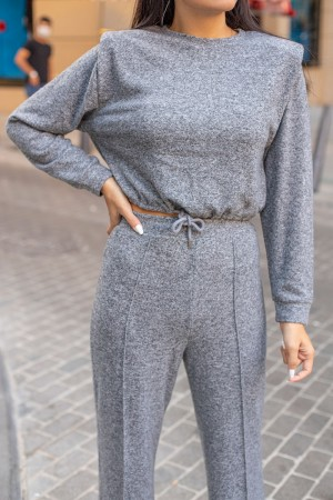 Anthracite Wadded Knitted Double Team