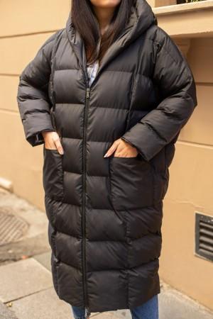 Black Long Oversize Puffer Coat