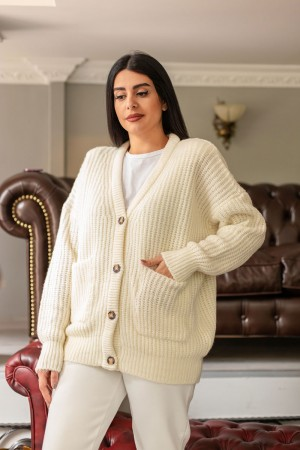 Ecru Thessaloniki Knitted Cardigan