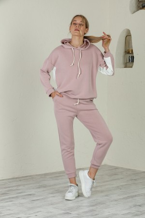 Dried Rose Hooded Tracksuit Set