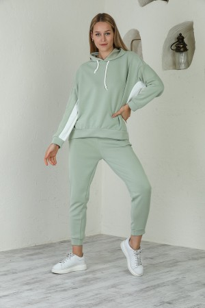 Mint Green Hooded Tracksuit Set
